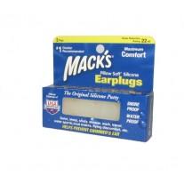 Macks - אטמי אוזניים למבוגרים נגד רעש ומים 6 זוגות
