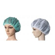 """כובע אחות דגם """"פיתה"""" 100 יחידות צבע ירוק לבן"""