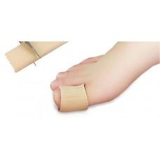 שרוול בד עם סיליקון בתוכו לבוהן או אצבע כף הרגל